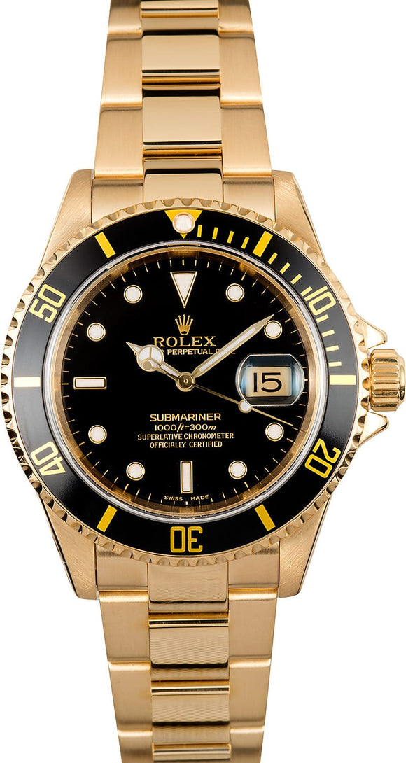 GENTS ROLEX SUBMARINER SPORT WATCH 40MM MODEL 16618 - BLACK INSERT, OYSTER SPORT BRACELET