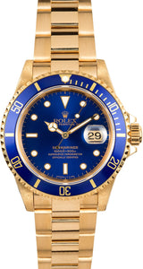 GENTS ROLEX SUBMARINER SPORT WATCH 40MM MODEL 16618 - BLUE INSERT, OYSTER SPORT BRACELET