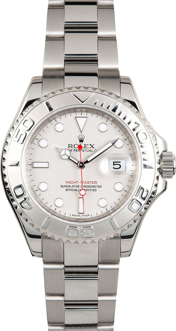 GENTS ROLEX SPORT YACHT-MASTER WATCH 40MM MODEL # 16622 - GRAY DIAL, OYSTER SPORT BRACELET