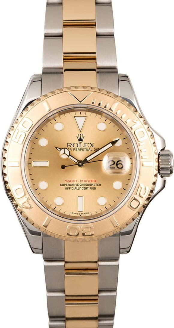 GENTS ROLEX SPORT YACHT-MASTER WATCH 40MM MODEL # 16623 - CHAMP. DIAL, OYSTER SPORT BRACELET