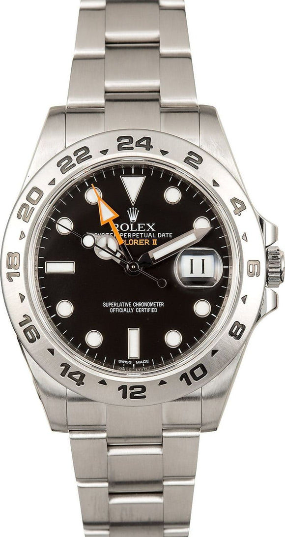 GENTS ROLEX SPORT EXPLORER II WATCH 42MM MODEL # 216570 - BLACK DIAL, OYSTERLOCK BRACELET