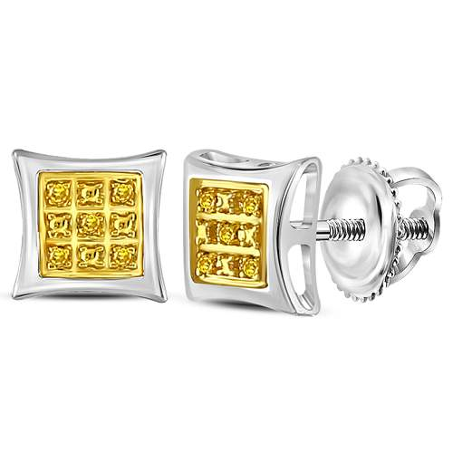 0.03CT-DIAMOND MICRO-PAVE EARRINGS