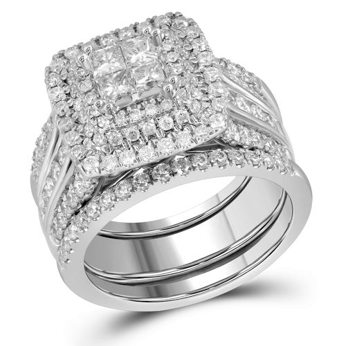 2 CT-DIAMOND  INVISIBLE SET RING AND BAND