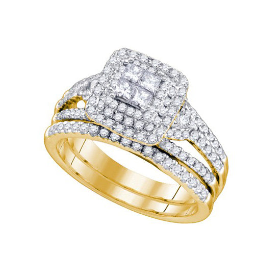 1 CT-DIAMOND RING AND BAND