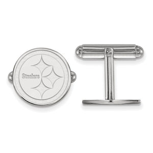 Sterling Silver Pittsburgh Steelers Cuff Link