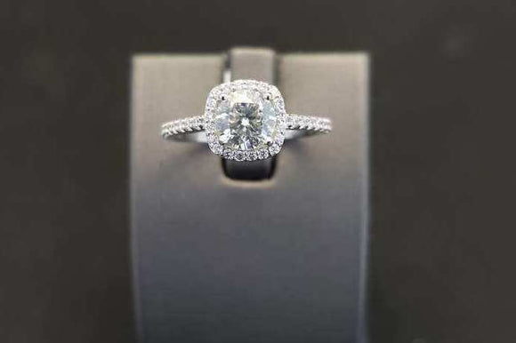 1.23 ctw Diamond Platinum Engagement Ring Platinum