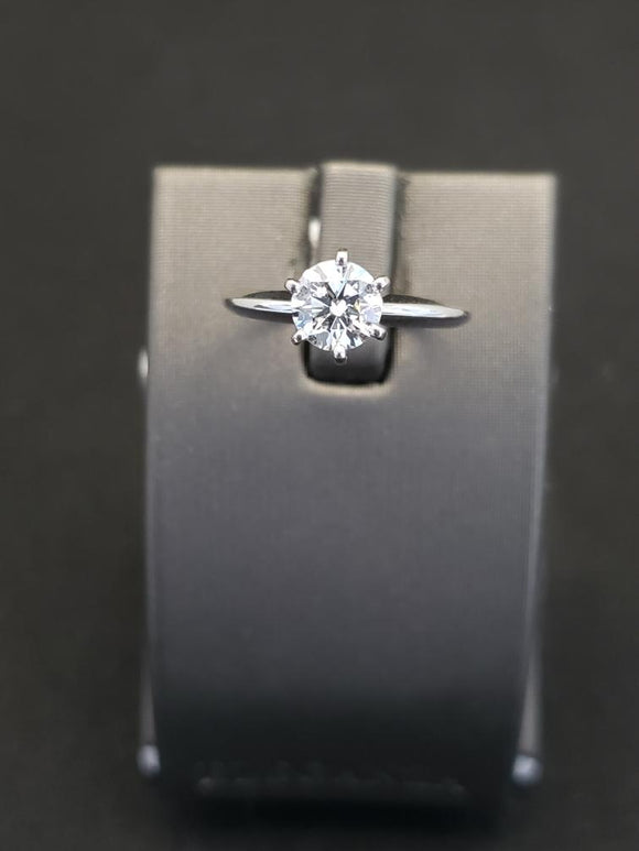 0.80 ct Platinum Diamond Solitaire Engagement Ring