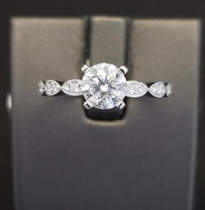 1 ct Diamond Engagement Ring 14k White Gold