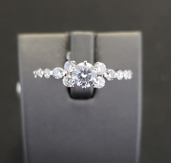 1 ct Vintage Design Diamond Engagement Ring 14k White Gold