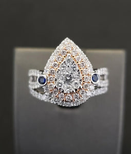 1.50 CT Diamond  Engagement Ring 10K white Gold