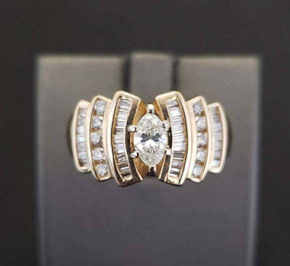 1.64 ct Diamond Engagement Ring 14k White Gold