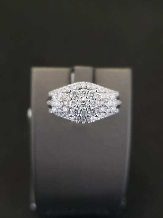 1 ct Diamond Engagement Ring 10K White Gold
