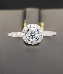 .58CTW 14KT Yellow Gold Diamond Engagement Ring