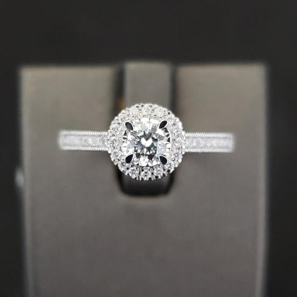 .58 CTW 14KT White Gold Diamond Engagement Ring