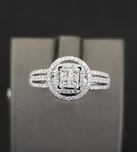 .50CTW Diamond 14KT White Gold Engagement Ring