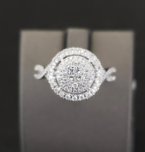 .50 CTW 14KT White Gold Diamond Engagement Ring