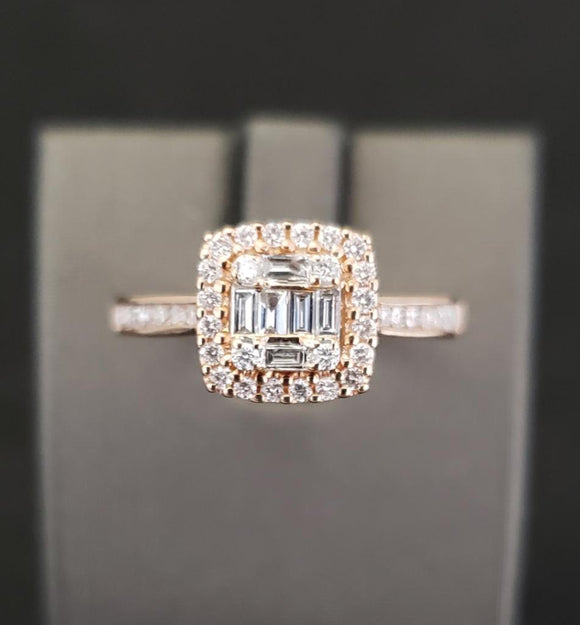 .50CTW 14KT Rose Gold Diamond Engagement Ring