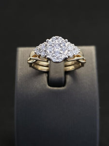 .63CTW 10KT Yellow Gold Diamond Bridal Set