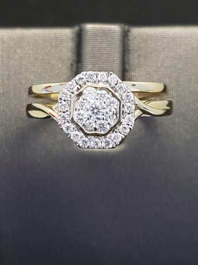 .33 CTW Diamond 10KT Yellow Gold Bridal Set