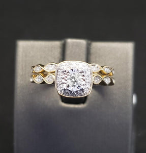 .33CTW 10KT Yellow Gold Diamond Bridal Set