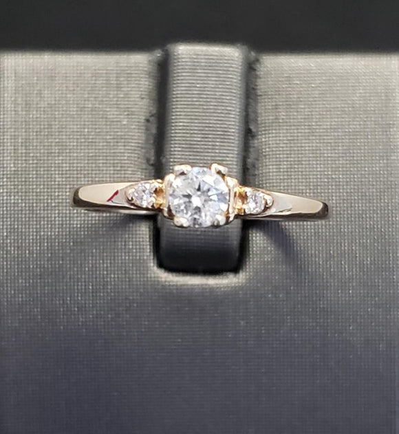 .25CTW Diamond 10KT Yellow Gold Engagement Ring