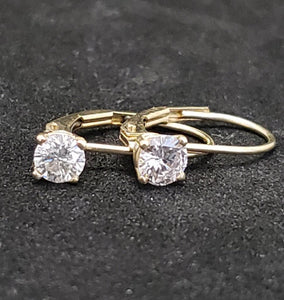 .50CTW 14KT Yellow Gold Diamond Drop Down Hoop Earrings