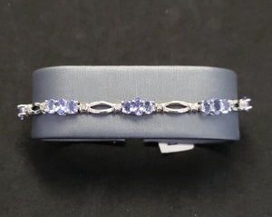 Tantalizing Tanzanite 4.25 ct 14KT White Gold Past Present Future Ladies Bracelet