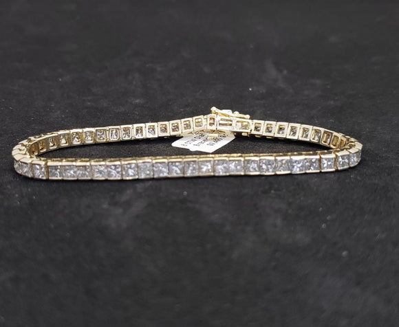 8CT 14KT Yellow Gold Diamond Bracelet
