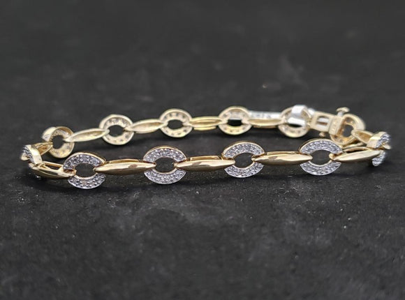 .50CTW Diamond 14KT Yellow Gold Tennis Bracelet