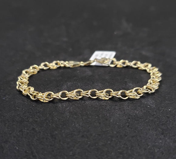 10KT Yellow Gold Fancy Link Bracelet