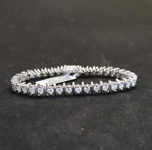 5CT 14KT White Gold Tennis Bracelet