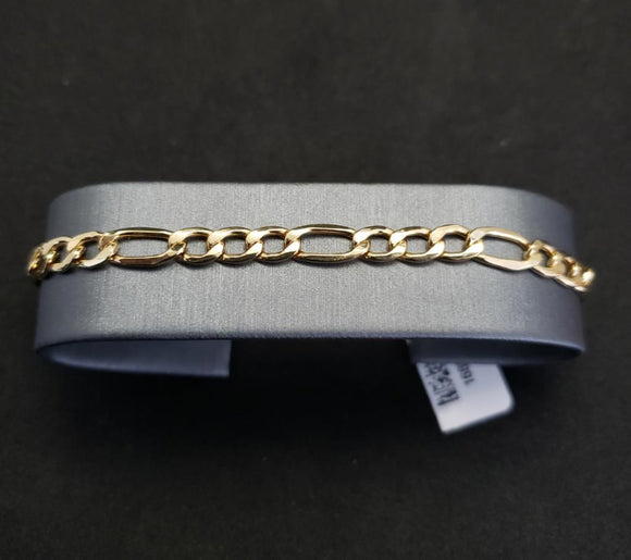 10KT Yellow Gold Figaro Bracelet