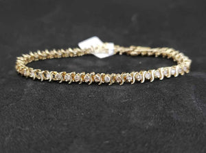 1CT 14KT Yellow Gold Diamond Tennis Bracelet