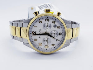 Bulova Classic Two Tone Chronograph Stainless Steel Mens Watch