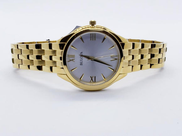 Bulova Classic Gold Tone Stainless Steel Womens Watch