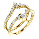 14K Yellow 1/2 CTW Diamond Ring Guard