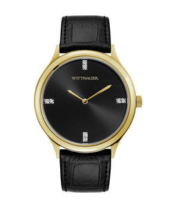 Wittnauer Men's Black Tie Watch