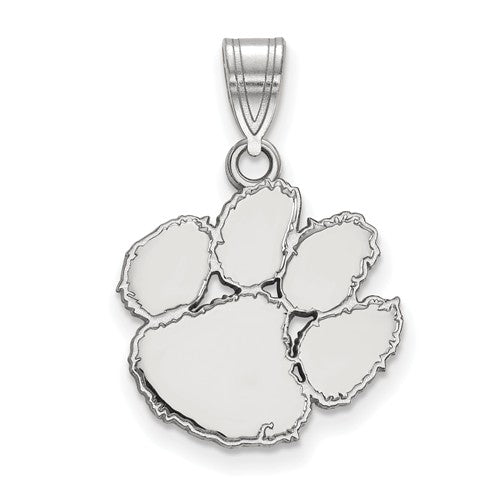 Sterling Silver LogoArt Clemson University Medium Pendant