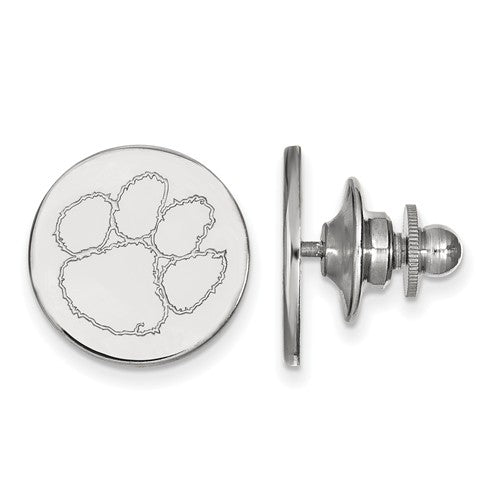 Sterling Silver LogoArt Clemson University Lapel Pin