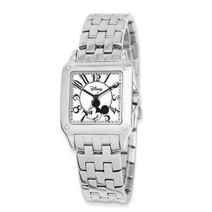 Disney Adult Size Alloy/Stnlss Steel Square Mickey Mouse Watch