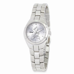 Disney Adult Size Stnlss Steel Round Silver Dial Mickey Mouse Watch