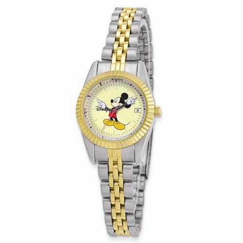 Disney Adult Size Two-Tone With Moving Arms Mickey Mouse Watch