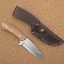 133L Cudeman Olive Wood Skinning Knife
