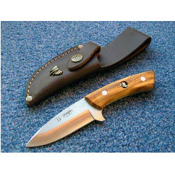 135L Cudeman Small Olive Wood Skinning Knife