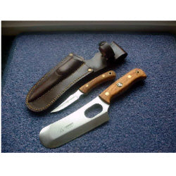 161L Cudeman Olive Wood Piggyback Pro Hunting Set