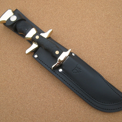 201N Cudeman Black ABS Piggyback Bowie Knife Set