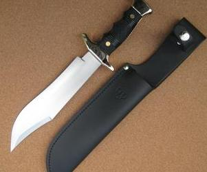 202N Cudeman Black ABS Large Bowie Knife