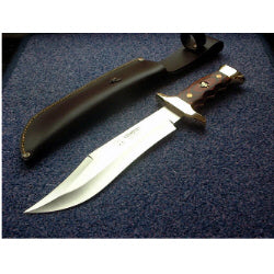 202R Cudeman Stamina Wood Large Bowie Knife
