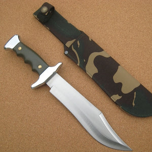 202V Cudeman Green ABS Large Bowie Knife