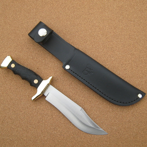 204N Cudeman Black ABS Small Bowie Knife